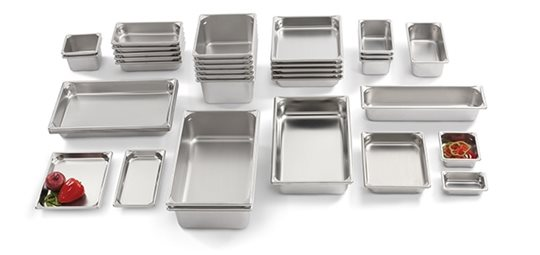 Vollrath Super Pan V in different shapes and sizes